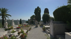 Religious cross in the cemetery of Saint-Paul-de-Vence Stock Footage