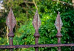 Rusty Iron Spikes - stock photo