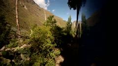 Train in Peru from Cusco to the Inca City Machu Picchu - stock footage