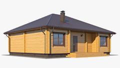 Log House 02 - 3D model