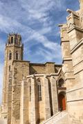 Lerida (Spain), the gothic cathedral - stock photo