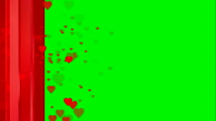 Animated heart red jacket on green screen chroma Stock Footage