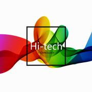 Vector modern colorful hi-tech abstract background - stock illustration