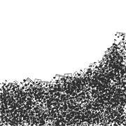 Vector modern black music background design Stock Illustration