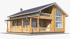 3d model of Log House 05