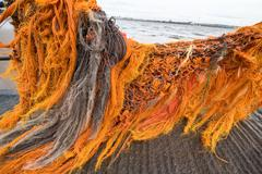 Weathered Fishing Net - stock photo