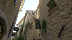 Hôtel Le Saint-Paul, located on Rue Grande in Saint-Paul-de-Vence Stock Footage
