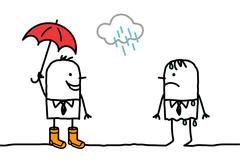 Men rainy weather & accessories Stock Illustration