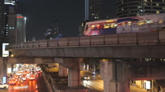 View of the city road and traffic in Bangkok. Stock Footage