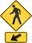 United States MUTCD road warning sign assembly - stock illustration