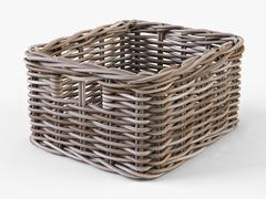 Wicker Basket Ikea Byholma 1 Gray 3D Model