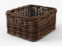 Wicker Basket Ikea Byholma 1 Brown 3D Model