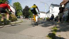 Ostseeman 2015 in Gluecksburg,Germany - The riders ride a mountain high Stock Footage
