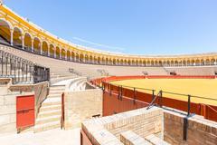 Bullfight arena stadium Stock Photos