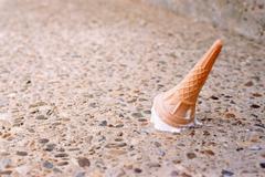 Ice cream on the floor Stock Photos