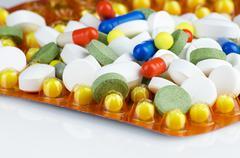 Heap of medicine pills Stock Photos