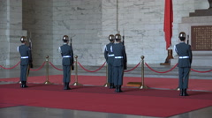 Taiwan military, army show, honor guard changing, symbolic, monument, Taipei Stock Footage