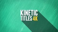 Kinetic Titles 4K Stock After Effects