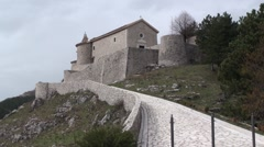 Letino of caserta castle Stock Footage