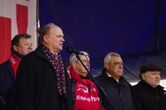Speech of Zyuganov leader Communist party Stock Photos