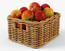 Wicker Apple Basket Ikea Byholma 1 Natural 3D Model