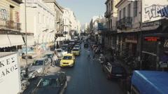 4K UHD aerial Ermou str Monastiraki market,Agora,Thission Stock Footage