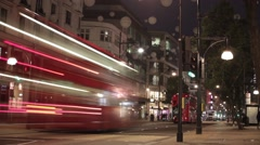 Night-time Time lapse, London Oxford Street  Stock Footage