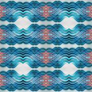 Abstract seamless symmetrical geometric background Stock Illustration