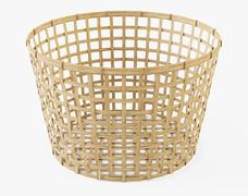 Wicker Basket Ikea Gaddis diameter 50 - 3D model