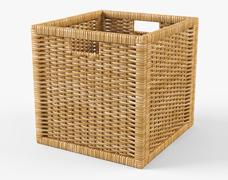 Rattan Basket Ikea Branas Natural Color - 3D model