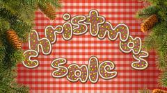 The inscription Christmas sale Stock Illustration