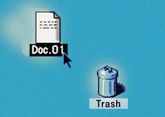 Deleting document Stock Photos