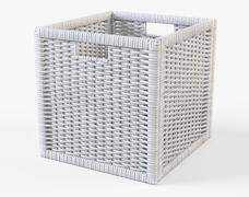 Rattan Basket Ikea Branas White Color - 3D model