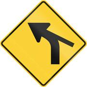 United States MUTCD warning road sign - Intersection in curve Stock Illustration