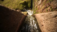 Inca ruins of Tipón with a water channel. Andes of Peru Stock Footage