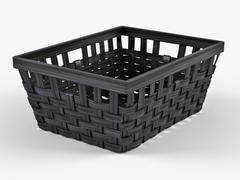 Wicker Basket Ikea Knarra 1 Black Color 3D Model