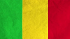 Malian flag waving in the wind (full frame footage) Stock Footage