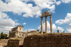 Archeological Roman Forum Stock Photos