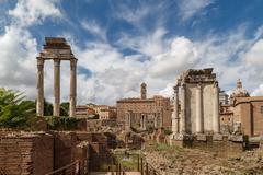 Histrocial Roman Forum Stock Photos