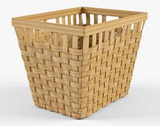 Wicker Basket Ikea Knarra 2 Natural Color - 3D model