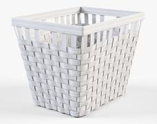 Wicker Basket Ikea Knarra 2 White Color - 3D model