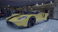 2017 Ford GT Supercar. Toronto International Auto Show.  - stock footage
