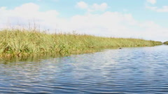 High speed airboat ride in Everglades National Park Stock Footage