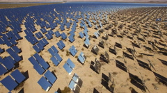 Aerial shot of solar panels - solar farm, Nevada Arkistovideo