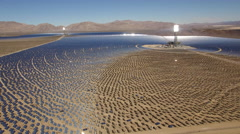 Aerial shot of solar power plant - solar panels, Nevada Stock Footage