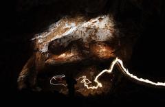 Underground cave chamber - stock photo