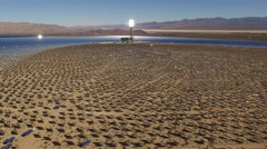 aerial shot of solar farm - solar power plant, Nevada - stock footage