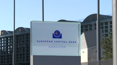 ECB headquarters Frankfurt, Germany Stock Footage