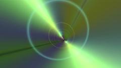 Wormhole Tunnel Animation Metallic Colors Stock Footage