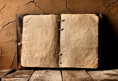 Old book on table - stock photo